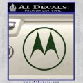Motorola M Decal Sticker Dark Green Vinyl 120x120