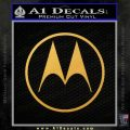Motorola M Decal Sticker Gold Vinyl 120x120