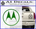 Motorola M Decal Sticker Green Vinyl Logo 120x97