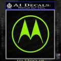 Motorola M Decal Sticker Lime Green Vinyl 120x120