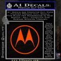 Motorola M Decal Sticker Orange Emblem 120x120