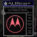 Motorola M Decal Sticker Pink Emblem 120x120