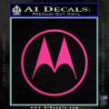 Motorola M Decal Sticker Pink Hot Vinyl 120x120