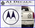 Motorola M Decal Sticker PurpleEmblem Logo 120x97