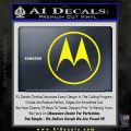 Motorola M Decal Sticker Yellow Laptop 120x120