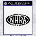 NHRA Championship Racing Decal Sticker Black Vinyl 120x120