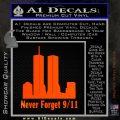 Never Forget 9 11 Decal Sticker Orange Emblem 120x120
