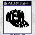New Era As Hat Shape Decal Sticker Black Vinyl 120x120