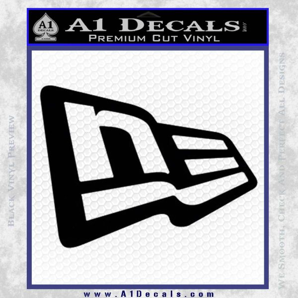 New era logo only decal sticker black vinyl 120x120