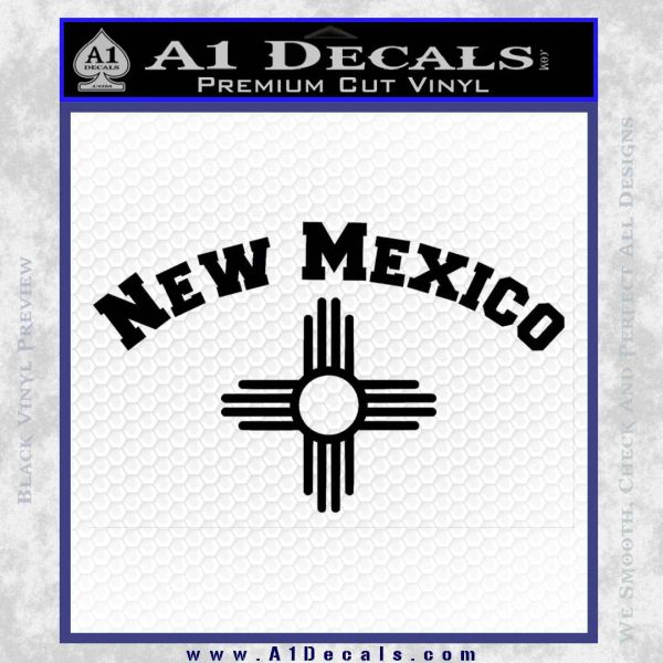 New Mexico Zia Arc Decal Sticker Black Vinyl