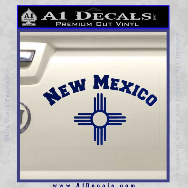 New Mexico Zia Symbol Decal Sticker Arc A1 Decals