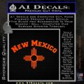 New Mexico Zia Arc Decal Sticker Orange Emblem 120x120