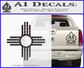 New Mexico Zia Symbol Decal Sticker CFB Vinyl 120x97