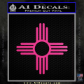 New Mexico Zia Symbol Decal Sticker Neon Pink Vinyl 120x120