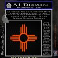 New Mexico Zia Symbol Decal Sticker Orange Emblem 120x120