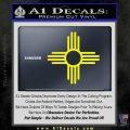New Mexico Zia Symbol Decal Sticker Yellow Laptop 120x120