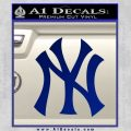 New York Yankees Decal Sticker DS Blue Vinyl 120x120