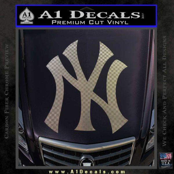 New york yankees decal sticker ds carbon fiber chrome vinyl 120x120