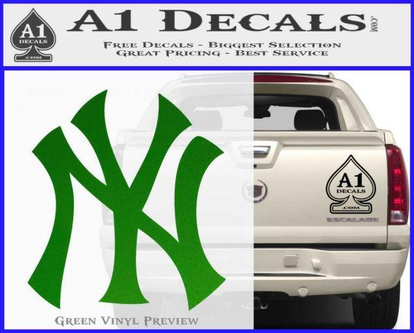 New york yankees decal sticker ds green vinyl logo 120x97