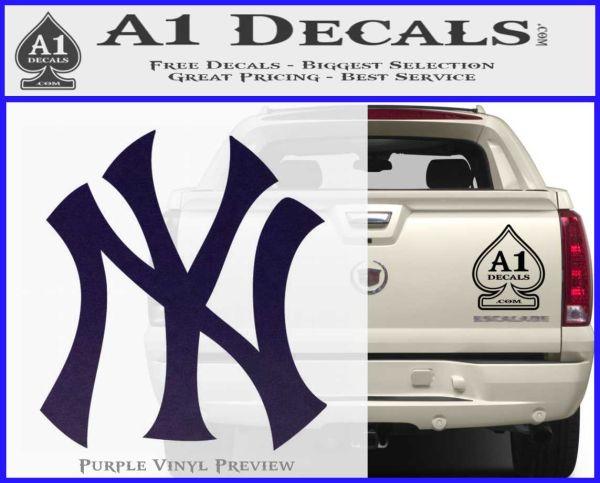 New york yankees decal sticker ds purpleemblem logo 120x97