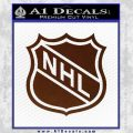 Nhl Shield D1 Decal Sticker BROWN Vinyl 120x120