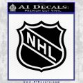 Nhl Shield D1 Decal Sticker Black Vinyl 120x120