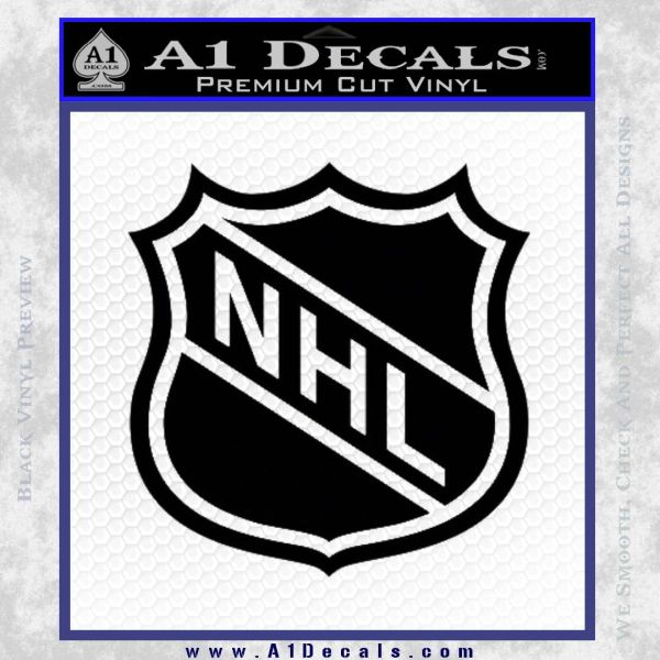 Nhl Shield D1 Decal Sticker Black Vinyl