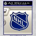 Nhl Shield D1 Decal Sticker Blue Vinyl 120x120