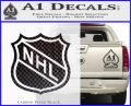 Nhl Shield D1 Decal Sticker Carbon FIber Black Vinyl 120x97