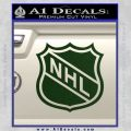 Nhl Shield D1 Decal Sticker Dark Green Vinyl 120x120