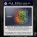 Nhl Shield D1 Decal Sticker Glitter Sparkle 120x120