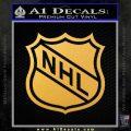 Nhl Shield D1 Decal Sticker Gold Vinyl 120x120