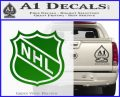 Nhl Shield D1 Decal Sticker Green Vinyl Logo 120x97