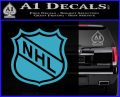 Nhl Shield D1 Decal Sticker Light Blue Vinyl 120x97