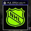 Nhl Shield D1 Decal Sticker Lime Green Vinyl 120x120
