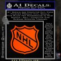 Nhl Shield D1 Decal Sticker Orange Emblem 120x120