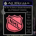 Nhl Shield D1 Decal Sticker Pink Emblem 120x120