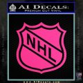 Nhl Shield D1 Decal Sticker Pink Hot Vinyl 120x120