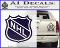 Nhl Shield D1 Decal Sticker PurpleEmblem Logo 120x97