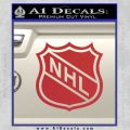 Nhl Shield D1 Decal Sticker Red 120x120