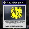 Nhl Shield D1 Decal Sticker Yellow Laptop 120x120