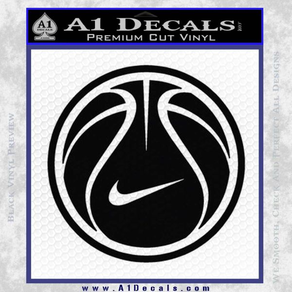 Nike basketball decal sticker black vinyl 120x120