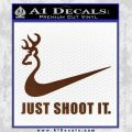 Nike Browning Just Shoot It Decal Sticker BROWN Vinyl 120x120