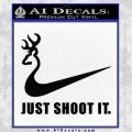 Nike Browning Just Shoot It Decal Sticker Black Vinyl 120x120