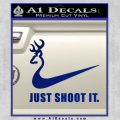 Nike Browning Just Shoot It Decal Sticker Blue Vinyl 120x120