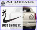 Nike Browning Just Shoot It Decal Sticker Carbon FIber Black Vinyl 120x97