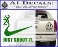 Nike Browning Just Shoot It Decal Sticker Green Vinyl Logo 120x97