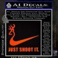 Nike Browning Just Shoot It Decal Sticker Orange Emblem 120x120