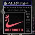 Nike Browning Just Shoot It Decal Sticker Pink Emblem 120x120