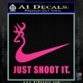 Nike Browning Just Shoot It Decal Sticker Pink Hot Vinyl 120x120